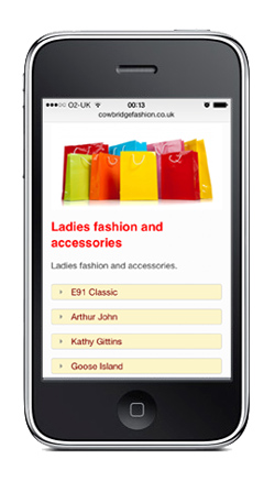 Cowbridge Fashion Mobile Screenshot