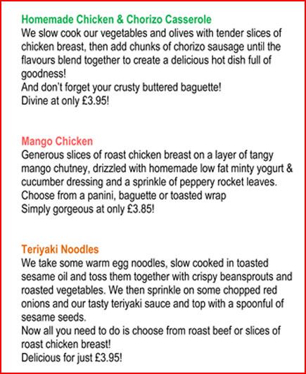 The Eating Place Cowbridge May Menu