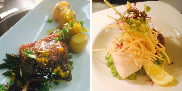 Oscars Cowbridge Cod dishes
